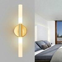 الشمال الذهب الجدار مصباح غرفة نوم السرير غرفة المعيشة الجدار الإضاءة بسيطة الحديثة led مرآة الحمام المصابيح الأمامية wf4291041
