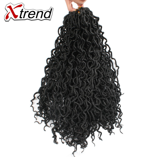 Xtrend Faux Locs Curly Crochet Braid Twist Synthetic Hair 18inch