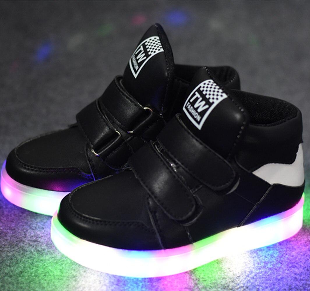 2017 nouvelles chaussures d'automne enfants Gobon chaussures de sport légères chaussures de sport en gros lampe à LED - 5