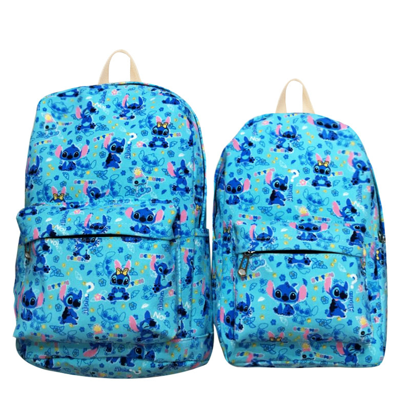 Lilo&Stitch Aniwe Canvas Backpack Zipper Printing Backpacks For Teenage Girls School Bag Women Travel Bag 12 15 Students Bag