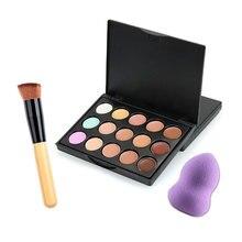 Professional 15 Color Concealer Face Primer Cream Contour Palette Make Up Facial Contouring Palette Makeup Base Brush Cosmetic