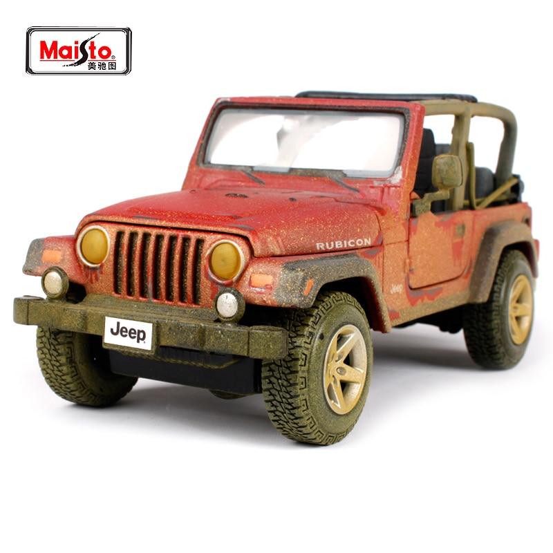 Maisto 1:27 Jeep Wrangler Rubicon Diecast Model Car Toy New In Box Spedizione Gratuita NUOVO ARRIVO 32107