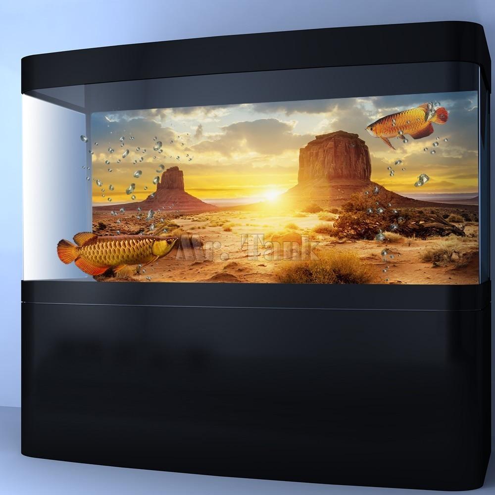 Mr.Tank Yellow Desert Aquarium Pozadina poster Riba zrna zmija Zid - Kućni ljubimci - Foto 1