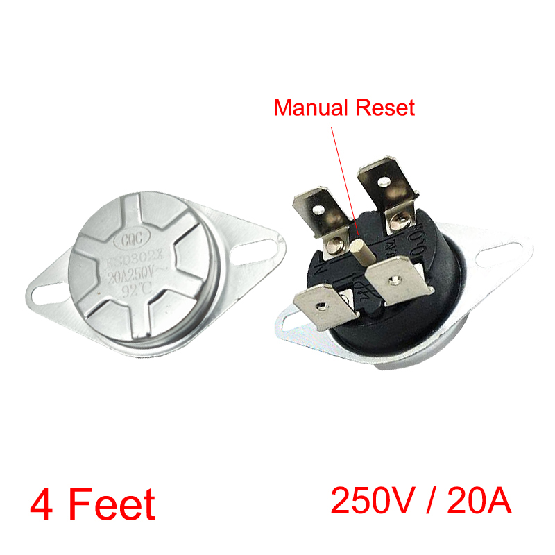 3Pcs NC Temperature Temp Switch Manual Reset Thermostat 80 Degree Celsius
