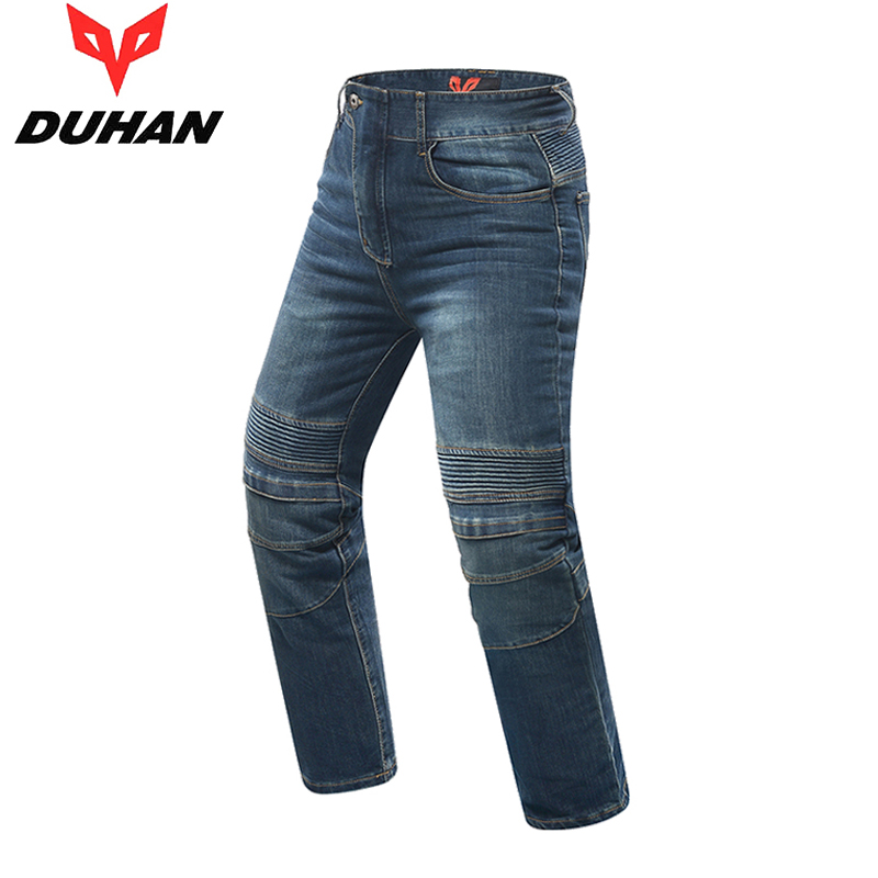DUHAN Motorcycle Pants Men's Motorbike Knee Protective Moto Jeans Trousers Windproof Motorcycle Racing Jeans Casual Pants