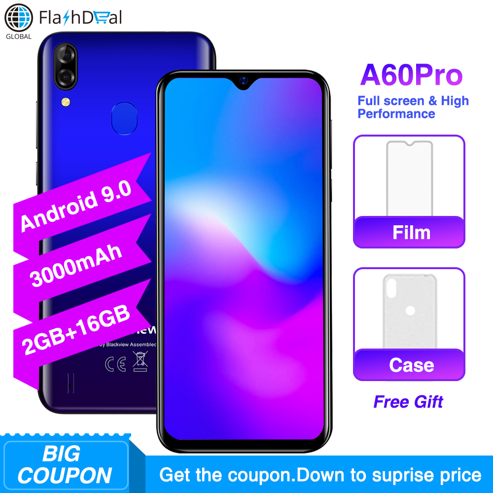 Blackview A60 Pro Android 9.0 MTK6761 Quad Core Smartphone 6.088