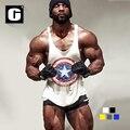 New Casual Tops de Fitness Musculação Stringer Singlet Colete de Treino dos homens