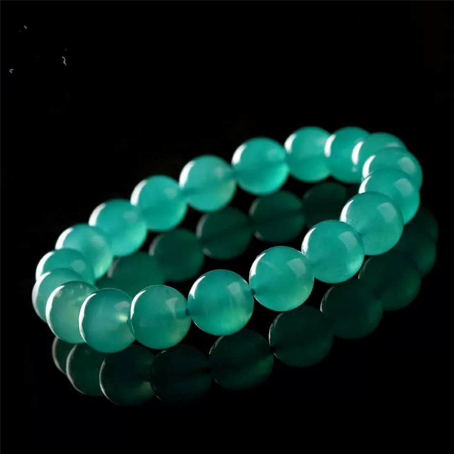 Genuine Mozambique Natural Green Amazonite Round Beads Jewelry Stretch Charm Women Lady Bracelets Drop Shipping genuine green seraphinite natural stone crystal round beads 14mm women mens stretch bracelets