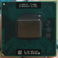 Intel core 2 Duo T7400 procesora SL9SE B2 procesor laptopa PGA 478 CPU 100% działa poprawnie core 2 duo t7400 laptop processorssocket 479 -