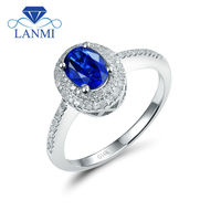 Jewelry Sets Vintage Oval 9x7mm 14Kt White Gold Diamond Tanzanite Engagement Ring R0014