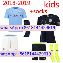 5f4788290 18 19 kids Manchester City KUN AGUERO DE BRUYNE G JESUS man soccer jerseys  2018 2019