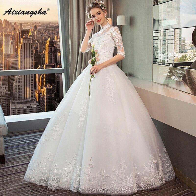 Aliexpress.com : Buy Princess Appliques Sequined High Neck