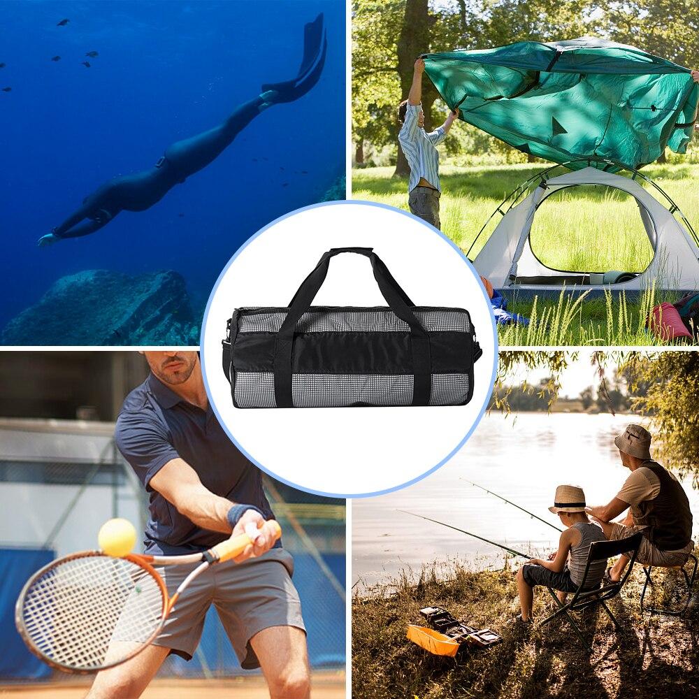 7edabd44d5 Lixada Gym Bag Snorkel Equipement Carry Bag for Mask Snorkel Fins Scuba  Diving Surfing Gear Mesh Duffel Gear 600D Nylon-in Gym Bags from Sports ...