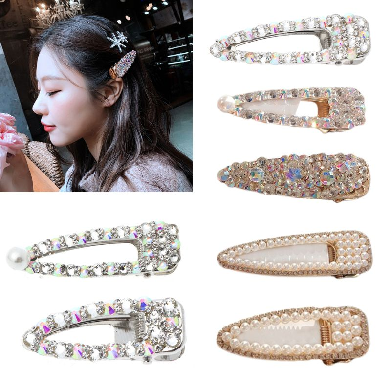 Korean Style Shining Imitation Diamond Hair Pin Good-looking Clips Vintage Ins Hairgrip Accessories