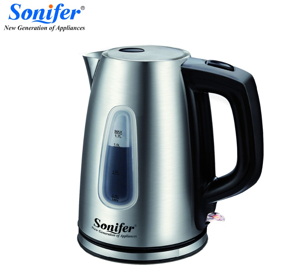 1.7L Stainless Steel Electric Kettle Portable Heating Kettle For Tea Coffee Food Grade Brew Kettle Heating Water in 5 Minutes