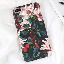 Lovecom Retro Bunga Cherry Ponsel Case untuk iPhone 11 Pro Max X Max XR XS X 6 6S 7 8 PLUS Hard Pc Back Cover Kasus Hadiah(China)