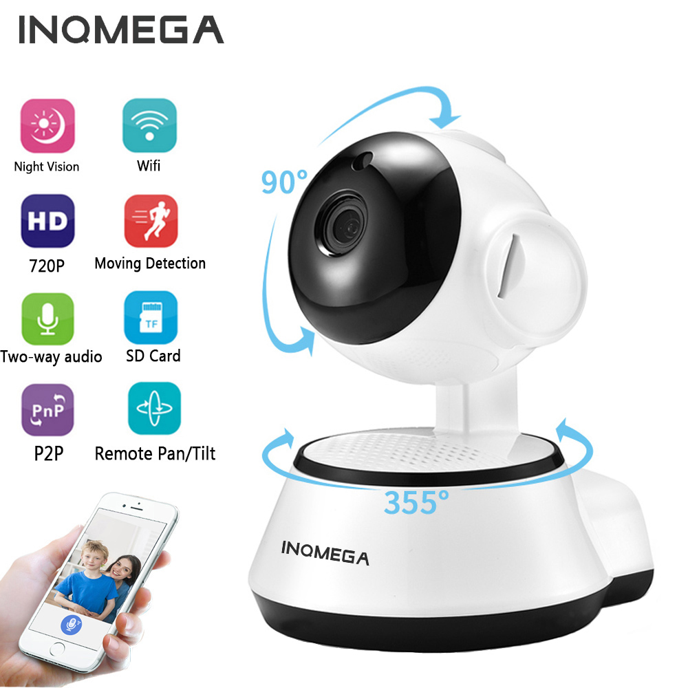 INQMEGA IP Camera Wireless 720P Home Security Surveillance CCTV Network Camera Night Vision Two Way Audio Baby Monitor V380 цена 2017
