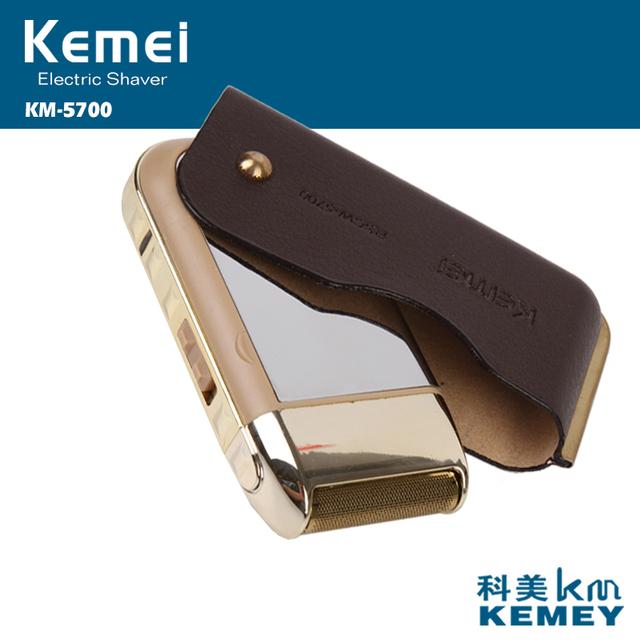 2en1 Venta caliente Alternativo máquina de afeitar eléctrica máquina de afeitar recargable al por mayor de alta calidad de cuero retro con espejo para el hombre