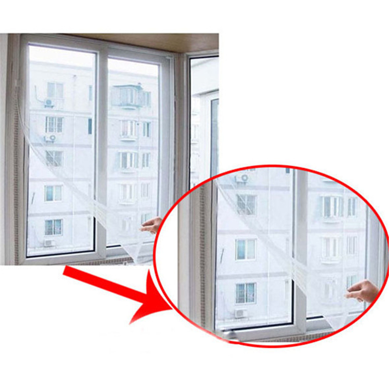 DIY Insect anti Mosquito curtain Windows Net Mesh Screen ...