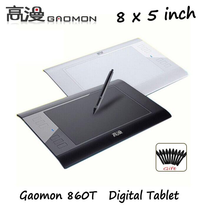 Ücretsiz Kargo Yeni Gaomon 860 T Dijital Tablet Grafik Tablet USB çizim Kalem Tablet 64 GB TF Kartı Uzatmak Siyah ve beyaz