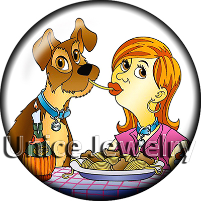 AD1302977 12/18/20mm Snap On Charms for Bracelet Necklace Hot Sale DIY Findings Glass Snap Buttons Dog Design