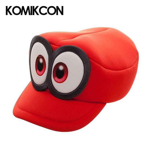 b2246a1078b Super Mario Cosplay Hats Odyssey Bros Costumes Caps Anime Cappy Hat Big Eye  Cap Accessories Gifts