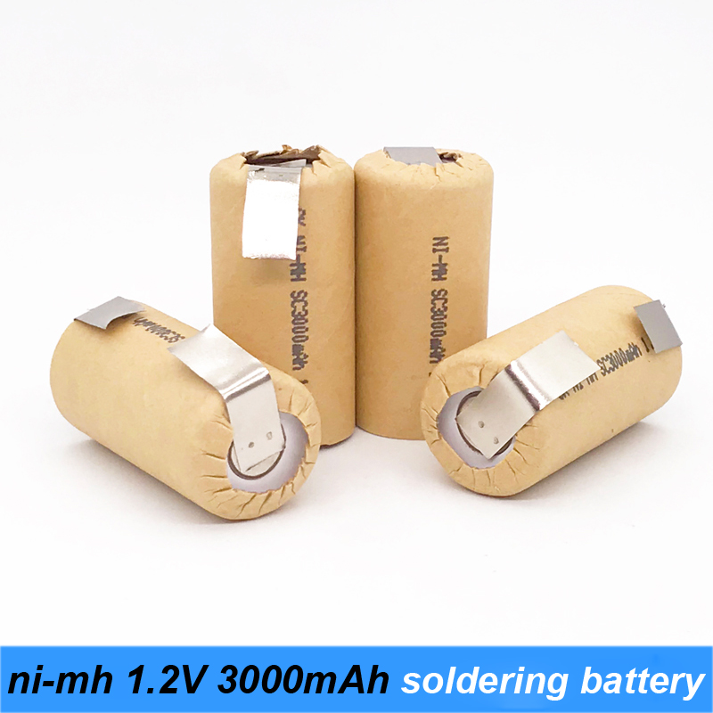 ni-mh 1.2v battery 3000mah soldering strip for power screwdriver battery and robot battery 1.2v nimh rechargeable battery s4