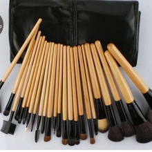 VERONNI Pro Makeup Brushes sets 24pcs Tools with PU Bag for Holiday Pink/Black/Proto Wood/Red/Coffee Brand New 6sets/lot DHL