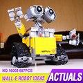 Idea Lepin 16003 687 unids Genuino Robot WALL E Kits Set Ladrillos Bloques de Construcción Educativa Bringuedos Compatitable juguetes 21303