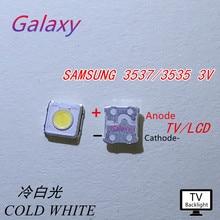 200 шт. светодиодный 3537 3535 светильник с бусинами холодный белый Высокая мощность 1 Вт 3 в лм для SAMSUNG светодиодный ЖК-Телевизор с подсветкой