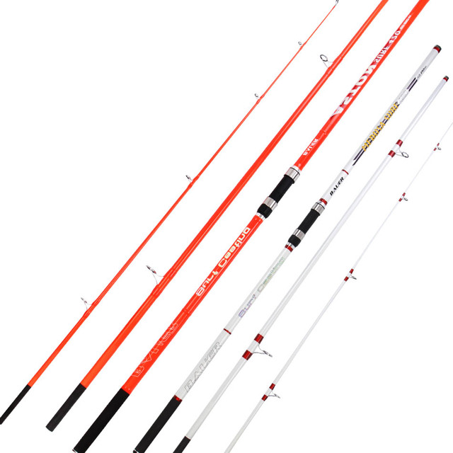 Wholesale 2pcs/pack Carbon Fiber Surf Rod 4.2M 3Sections 100-250g lure weight Surf Casting Rod