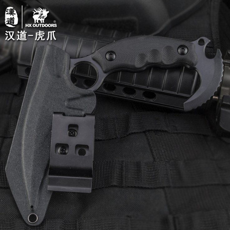HX OUTDOORS Tiger Claw Knife D2 Blade G10 Handle Camping Karambit - Herramientas manuales - foto 5