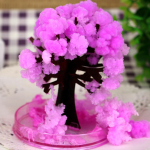 2019 100PCS Japanese Artificial Magic Sakura Paper Trees Magical Christmas Growing Tree Desktop Cherry Blossom Science Kids Toys