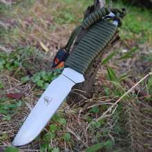 Peasant Full Tang Fixed Blade Knife Outdoor Diving Knife Survival Hunting Knives 9cr19mov steel+ Nylon Tie Up Handle 1919#