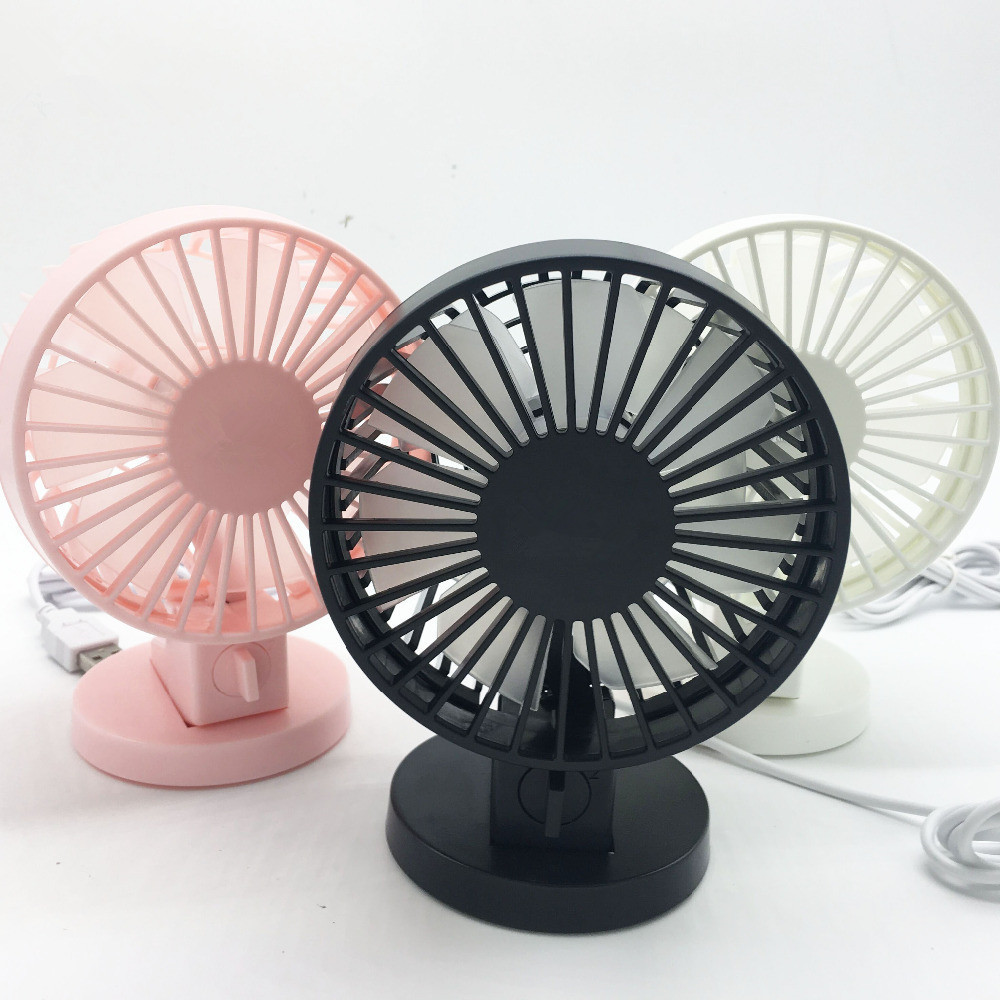 Bærbar Mini USB Skrivebord Fan Kreativ Hjemmekontor ABS Elektriske Vifter Stille Desktop Fan Med Double Side Fan Blades