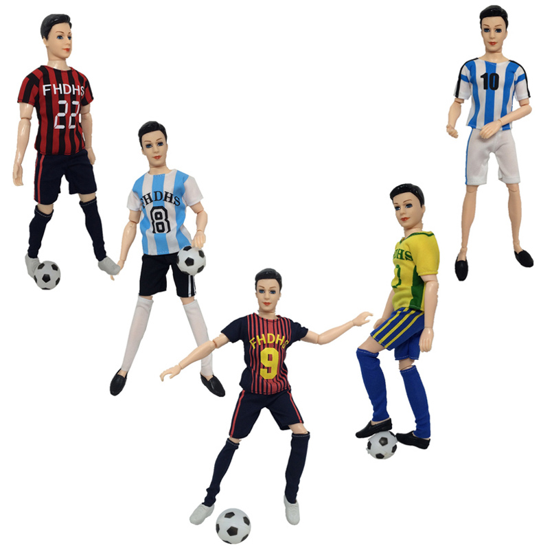 823e26f4f Male Football Player Doll Toy Set Athlete Doll 14 Flexible Joints  Simulation World Cup Soccer Players with Clothes and Shoes on  Aliexpress.com