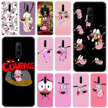 Hot Courage The Cowardly Dog Soft Silicone Fashion Transparent Case For OnePlus 7 Pro 5G 6 6T 5 5T 3 3T TPU Cover