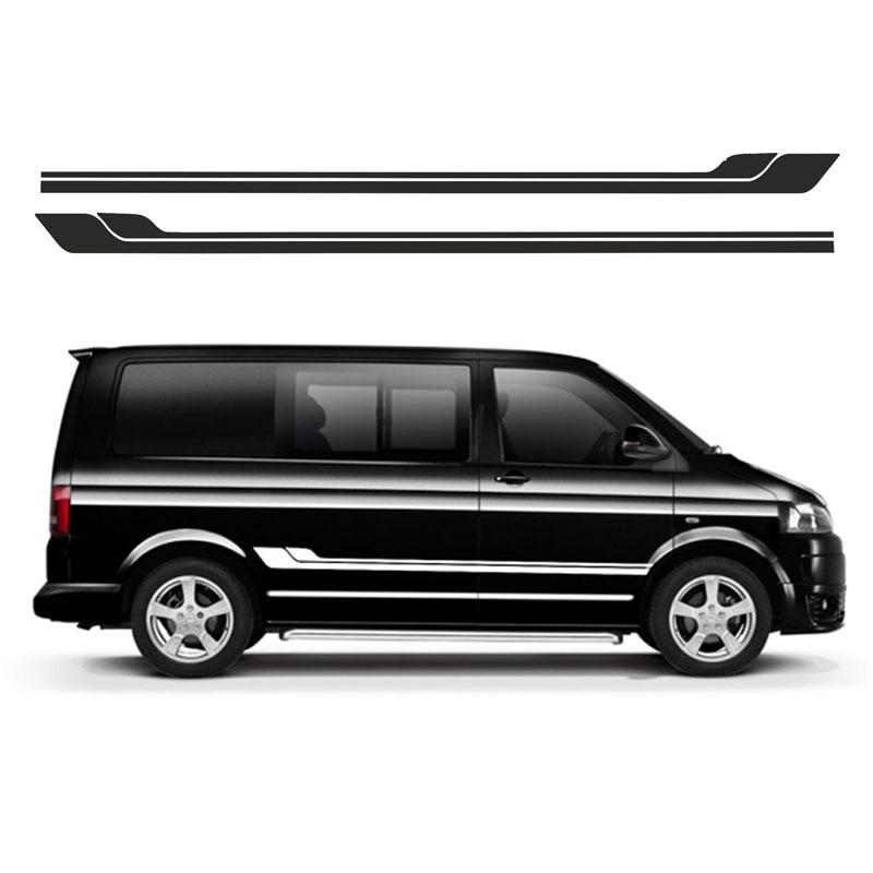 2pcs for VOLKSWAGEN ANIMAL VW SIDE STRIPES DECALS TRANSPORTER T4 T5 Campervan Graphics цена