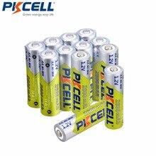 12 pz/lotto Pkcell 2600mAh AA Ni Mh Batteria Ricaricabile 1.2V NiMh Batterie aa Con 1000 Ciclo per Torcia Elettrica del LED