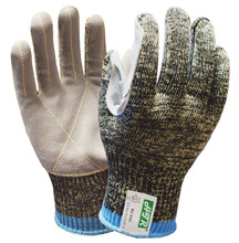 Metal and Glass Handing Heavy Duty Cut Proof Safety Glove Aramid Fiber Wrapped Steel Leather Anti Resistant Work Gloves
