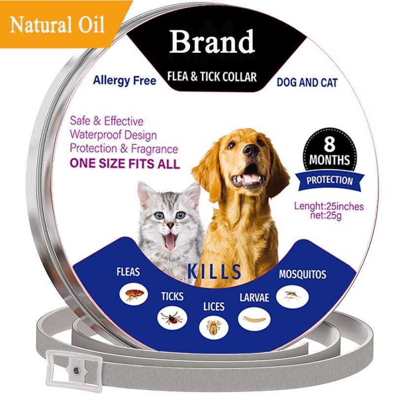 Perro gato Anti piojos pulga poco TIC Collar Anti mosquitos collares matar piojos parásito mascotas tratamiento protección a largo plazo de envío rápido