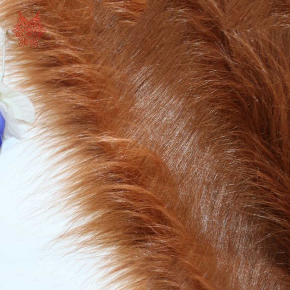 Коричневый 9 см плюшевая ткань искусственный мех для зимняя куртка жилет этап украшение для костюмированного представления длинный мех ткани DIY 150*50 см 1 шт. SP5418