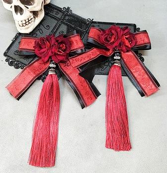 Sweet Lolita Ribbon Bowknot Hairpin Tassel Hair Clip Accessories For Women Headpiece Gothic Japanese Girl Flower Clips Fancy Dre 2