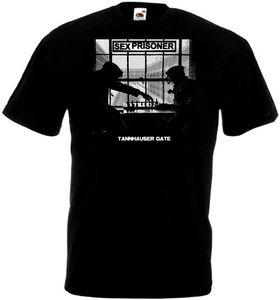 Секс-футболка для узников таннхаузера, черная футболка в стиле панк, все размеры, S-3XL, летняя крутая забавная футболка