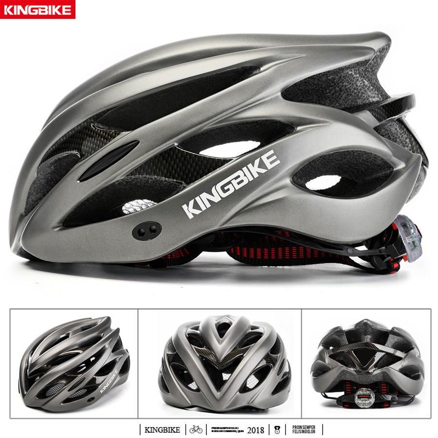 Image 4 - KINGBIKE HOT Bicycle Helmet Men Women MTB Road Cycling Helmets Ultralight Integrally molded EPS+PC Bike helmet Capacete Ciclismo-in Bicycle Helmet from Sports & Entertainment