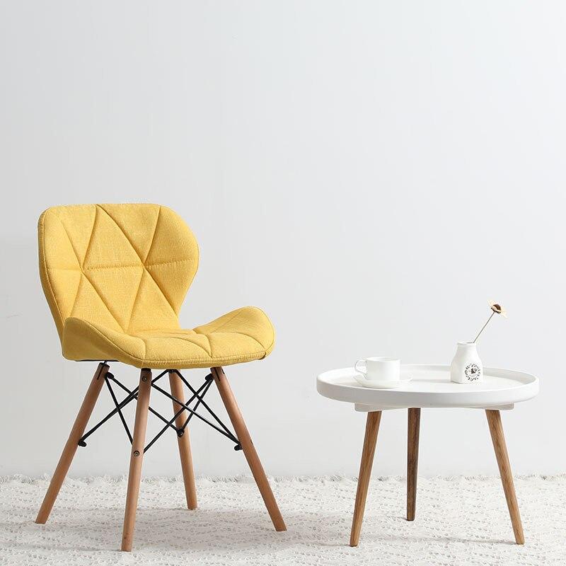 Современный минималистичный стол компьютерный стул домашний Ресторан обеденный стул из твердой древесины скандинавский диван спинка макияж пляж - Цвет: N