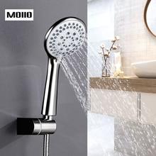 MOIIO Modern  handheld shower head New Design Bathroom Rain shower head Brushed Nickel Shower 5 Functions bathroom accessories стоимость