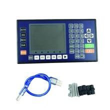 цена на 4 Axis 16DI 8DO 3.5 Inch Color LCD CNC controller lathe mini milling servo USB stepper motor sewing laser