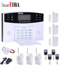 SmartYIBA Russian Spanish Italian French Voice Home Security Alarm Kit GSM Wireless Burglar Alarm Remote Control Detector Sensor
