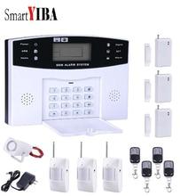 SmartYIBA Russian Spanish Italian French Voice Home Security Alarm Kit GSM Wireless Burglar Alarm Remote Control Detector Sensor